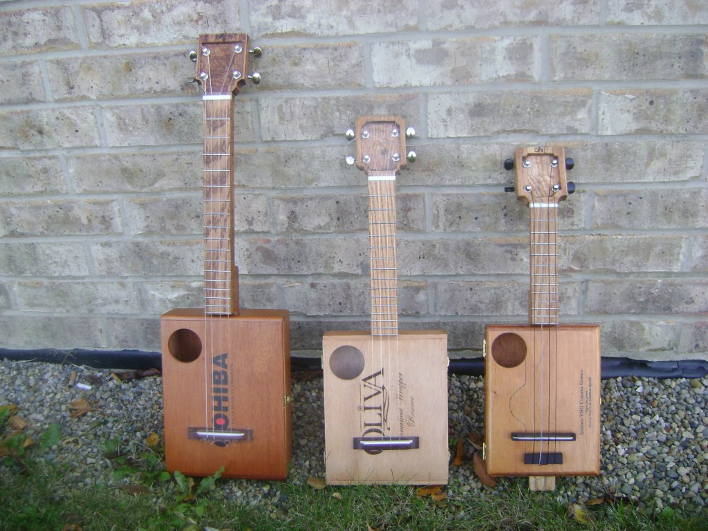 Cigar Box Ukuleles built by Jonathan Spencer