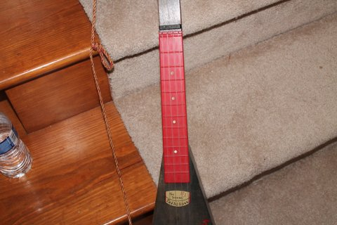 Red and Black Treholipee - Another Fretboard Shot